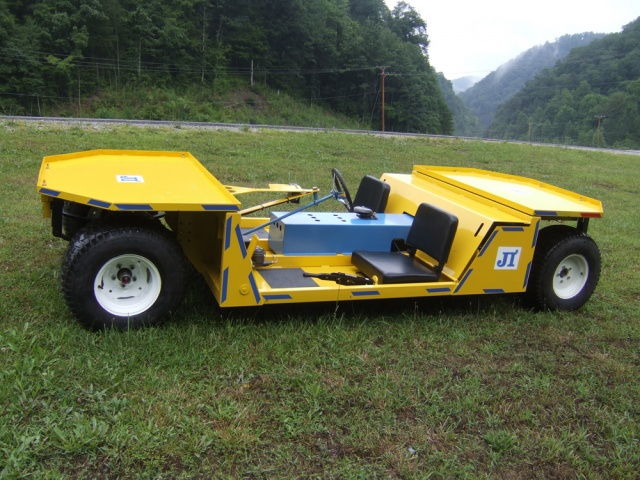 DC Super Trac - 2 la 3 Persoană Mantrip Electric Mining Vehicle