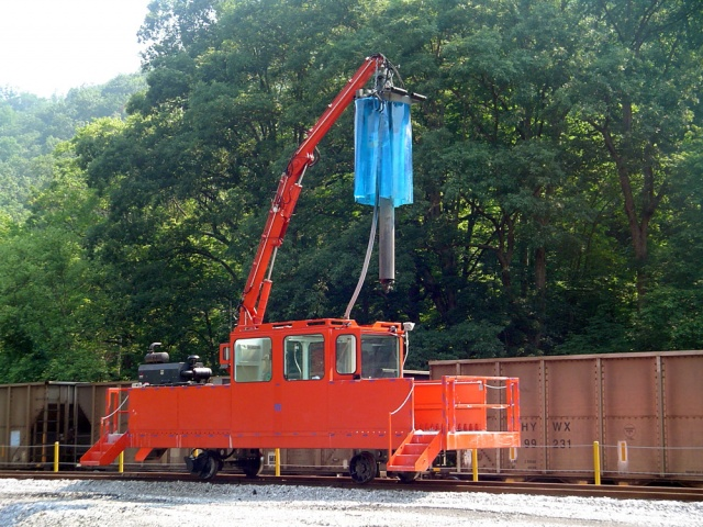 Железнички монтирани Уни-дупчалка со спирална бургија за земање примероци за јаглен систем за земање мостри